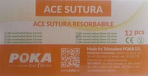 Clinique Ace sutura resorbabile 12buc./cut. - 3/0 triunghi