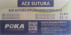 Clinique Ace sutura nylon 12buc./cut. - 3/0 cerc