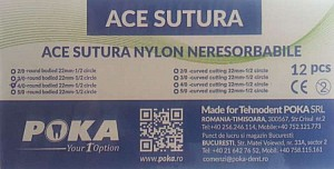 Clinique Ace sutura nylon 12buc./cut. - 4/0 triunghi