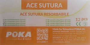 Clinique Ace sutura resorbabile 12buc./cut. - 4/0 cerc